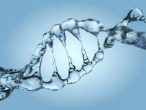Sluit omhoog van een diagonale DNA-Ketting van water 3d Stock Illustratie