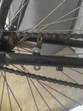 Sluit omhoog van een fietsketting royalty-vrije stock afbeelding