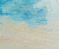 Sluit omhoog van een geschilderd canvas Stock Afbeeldingen