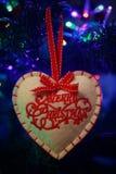Sluit omhoog van een Kerstmisdecoratie, royalty-vrije stock foto