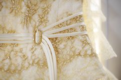 Bruids kledingsdetail Royalty-vrije Stock Afbeelding