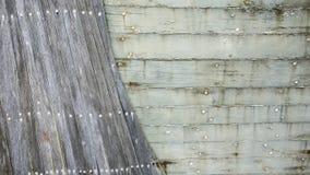 Sluit omhoog van een oude houten bootschil royalty-vrije stock foto's