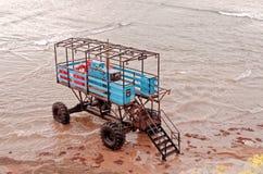 Sluit omhoog van een Overzeese Tractor royalty-vrije stock afbeeldingen