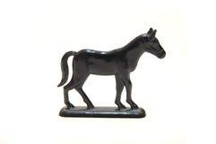 Sluit omhoog van een plastic stuk speelgoed paard Royalty-vrije Stock Afbeeldingen