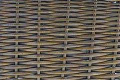 Sluit omhoog van een rieten mand Stock Foto