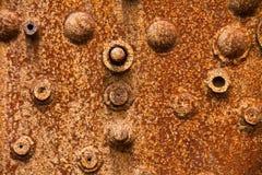 Sluit omhoog van een roestige stoomketel Stock Foto's