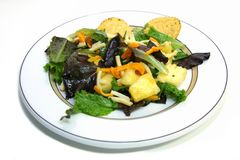 Sluit omhoog van een salade Stock Fotografie
