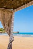 Sluit omhoog van een strandgazebo Royalty-vrije Stock Fotografie