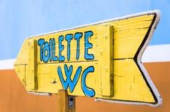 Funky Uithangbord van het Toilet Stock Fotografie