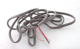 Sluit omhoog van elektrische draad Stock Foto's