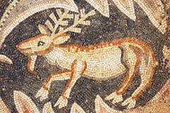 Sluit omhoog van fragment van antiek mozaïek Stock Afbeelding