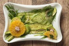 Sluit omhoog van fruit en plantaardige salade Royalty-vrije Stock Afbeelding
