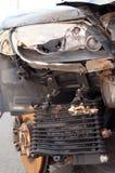 Sluit omhoog van gebroken auto Stock Foto's