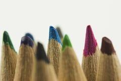 Sluit omhoog van Gekleurde Potloden Royalty-vrije Stock Afbeelding