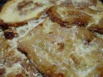 Sluit omhoog van gekookt moussaka eigengemaakt voedsel stock afbeeldingen