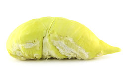 Sluit omhoog van gepeld durian vlees Stock Foto's