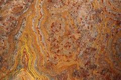 Sluit omhoog van geroeste aangetaste grunge ruwe metaaloppervlakte 1 Stock Fotografie
