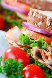 Sluit omhoog van gezonde sandwich stock foto