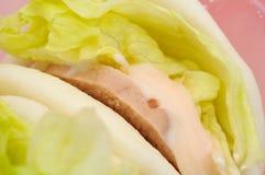 Sluit omhoog van gezonde vegetarische hamburger Royalty-vrije Stock Foto's