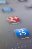 Sluit omhoog van googlepictogram Royalty-vrije Stock Foto's