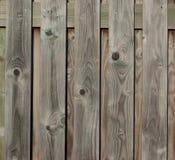 Sluit omhoog van grijze houten omheiningspanelen Royalty-vrije Stock Fotografie