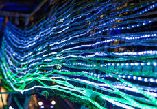 Sluit omhoog van groene LEIDENE lichten Royalty-vrije Stock Foto
