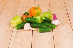Sluit omhoog van groenten Stock Afbeeldingen