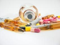 Sluit omhoog van groep divers medicijn Stock Foto's