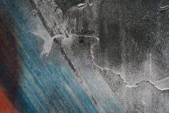 Sluit omhoog van grungy ruwe gekraste grijze metaalachtergrond Stock Afbeeldingen