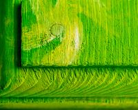 Sluit omhoog van Heldergroene Geweven Houten Samenvatting stock foto's