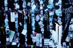 Sluit omhoog van het branden van kaarsen Royalty-vrije Stock Foto