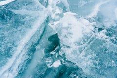 Bevroren ijs dicht omhoog Royalty-vrije Stock Foto