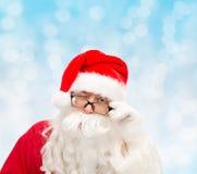 Sluit omhoog van het knipogen van de Kerstman Royalty-vrije Stock Fotografie