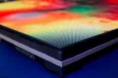 Sluit omhoog van het warme gekleurde LEIDENE schermkant van SMD Stock Afbeelding