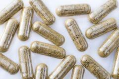 Sluit omhoog van Homeopathische capsule Stock Foto's