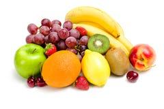 Sluit omhoog van hoop van fruit royalty-vrije stock foto's