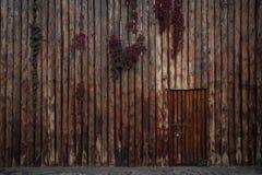 Sluit omhoog van houten omheining en deur Royalty-vrije Stock Afbeelding