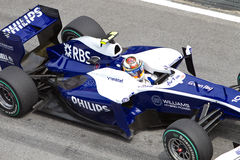 Sluit omhoog van Hulkenberg bij Maleise F1 Stock Foto