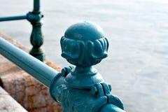Sluit omhoog van ijzerbars op de haven van Thessaloniki Royalty-vrije Stock Afbeeldingen
