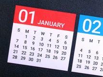 Sluit omhoog van Januari 2018 Stock Afbeeldingen