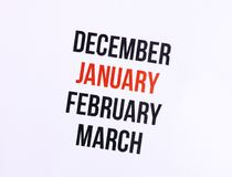 Sluit omhoog van Januari Royalty-vrije Stock Fotografie