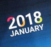Sluit omhoog van Januari 2018 Royalty-vrije Stock Foto's