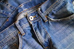 Sluit omhoog van jeans Royalty-vrije Stock Foto's