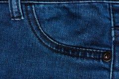 Sluit omhoog van jeanszak Stock Afbeelding