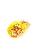 Sluit omhoog van kebabsandwich Royalty-vrije Stock Foto