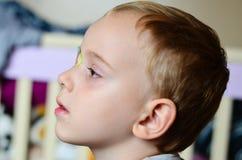 Sluit omhoog van kind` s wimper Stock Afbeeldingen
