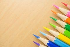 Sluit omhoog van kleurenpotloden Royalty-vrije Stock Foto