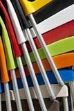 Sluit omhoog van kleurrijke stoelen Royalty-vrije Stock Fotografie