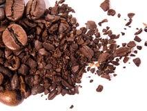 Sluit omhoog van koffiebonen Royalty-vrije Stock Afbeeldingen