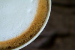 Sluit omhoog van Koffieschuim royalty-vrije stock afbeeldingen